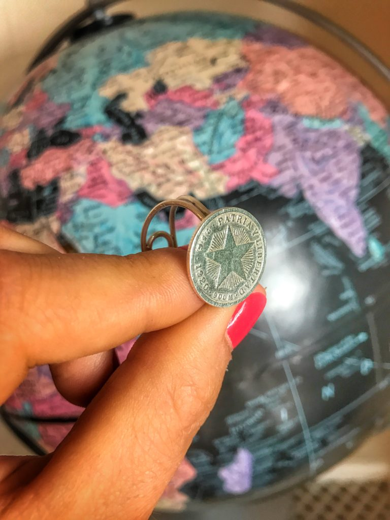 Cuban coin ring
