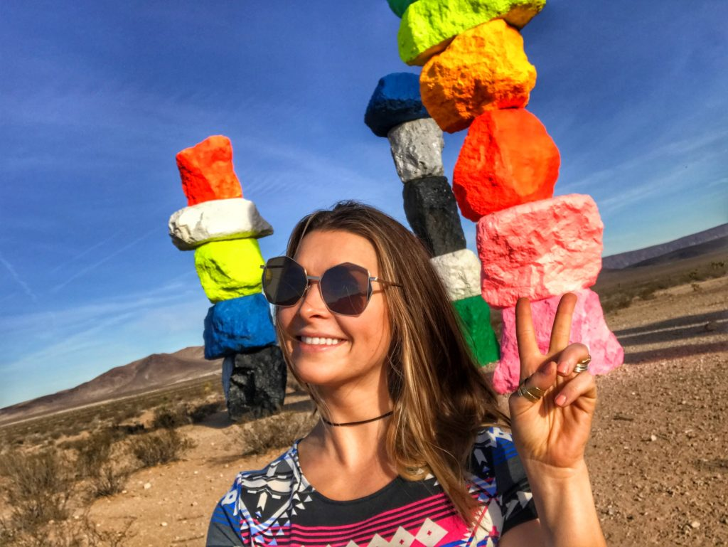 smiles from the Seven Magic Mountains