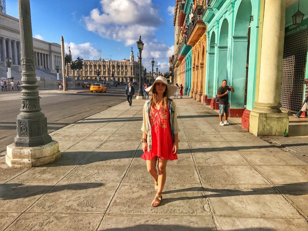 woman walking in Havana Cuba