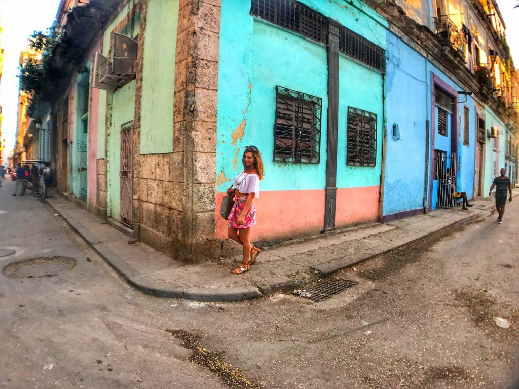 woman walking in Havana