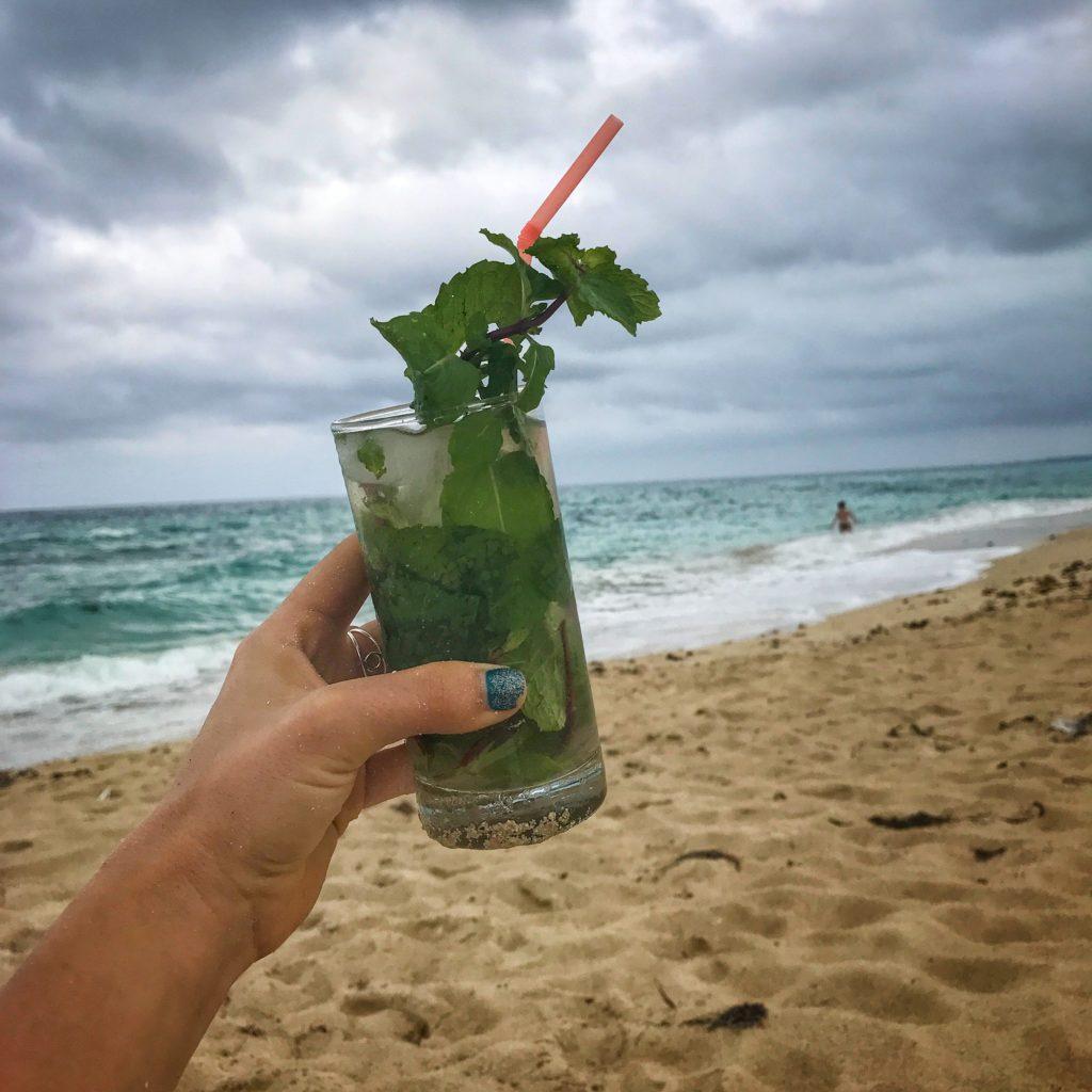 mojito on the beach in cuba
