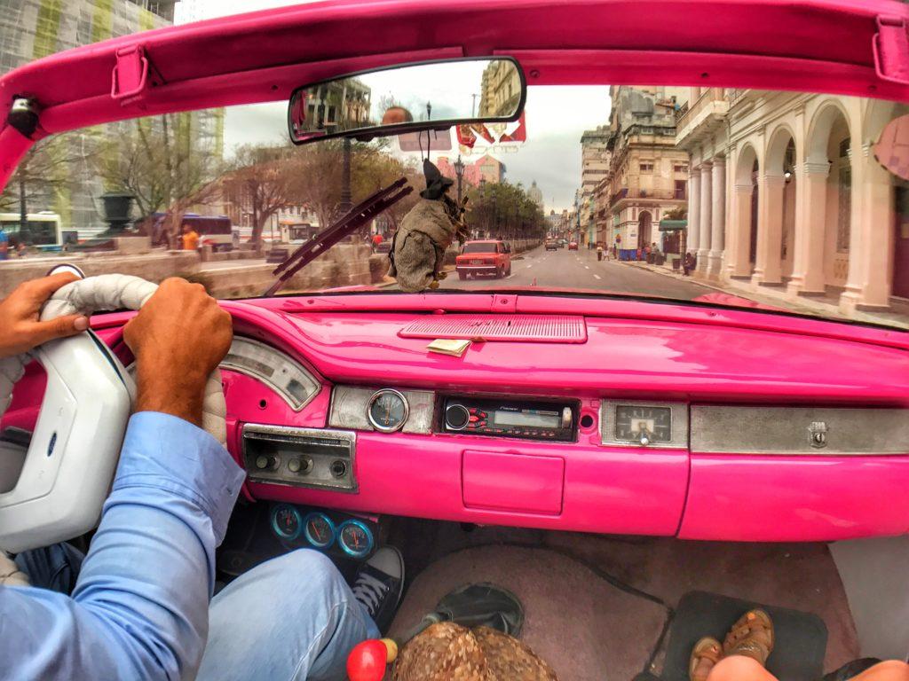 car ride in Havana