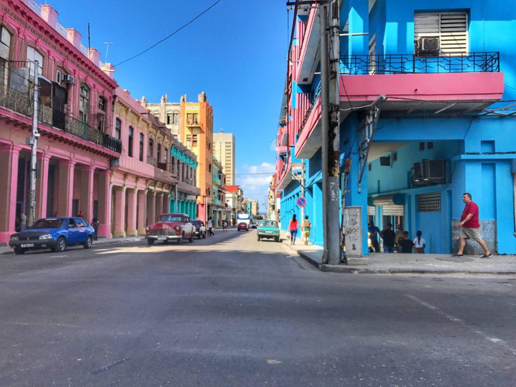 streets of Havana colored building
