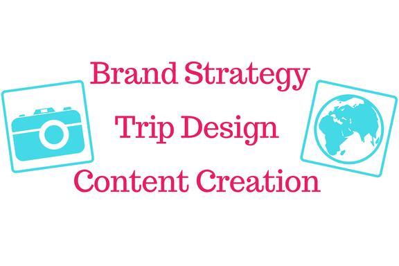 BRAND STRATEGY, TRIP DESIGN AND CONTENT LOGO OF CAMERA AND GLOBE