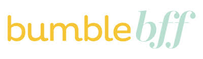 bumble bff logo in blue and yellow