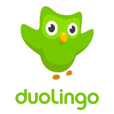 Duolingo logo with green owl