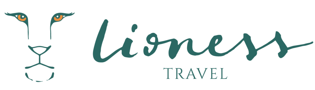 lioness travel app logo in green