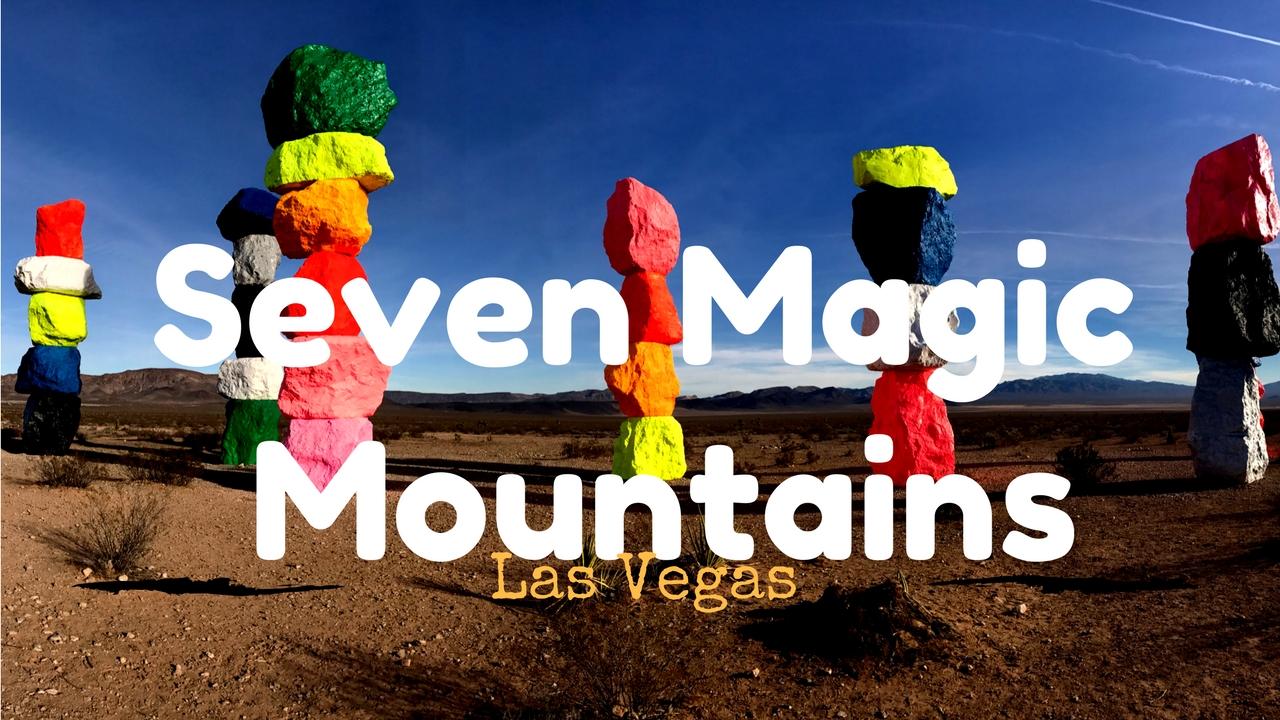 Rainbow boulders in Las Vegas