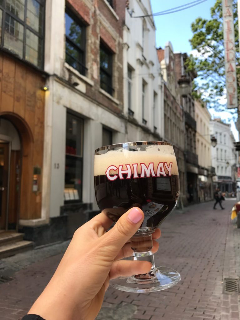 chimay beer glass in Brussels