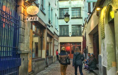 Two Women Walking Brussels