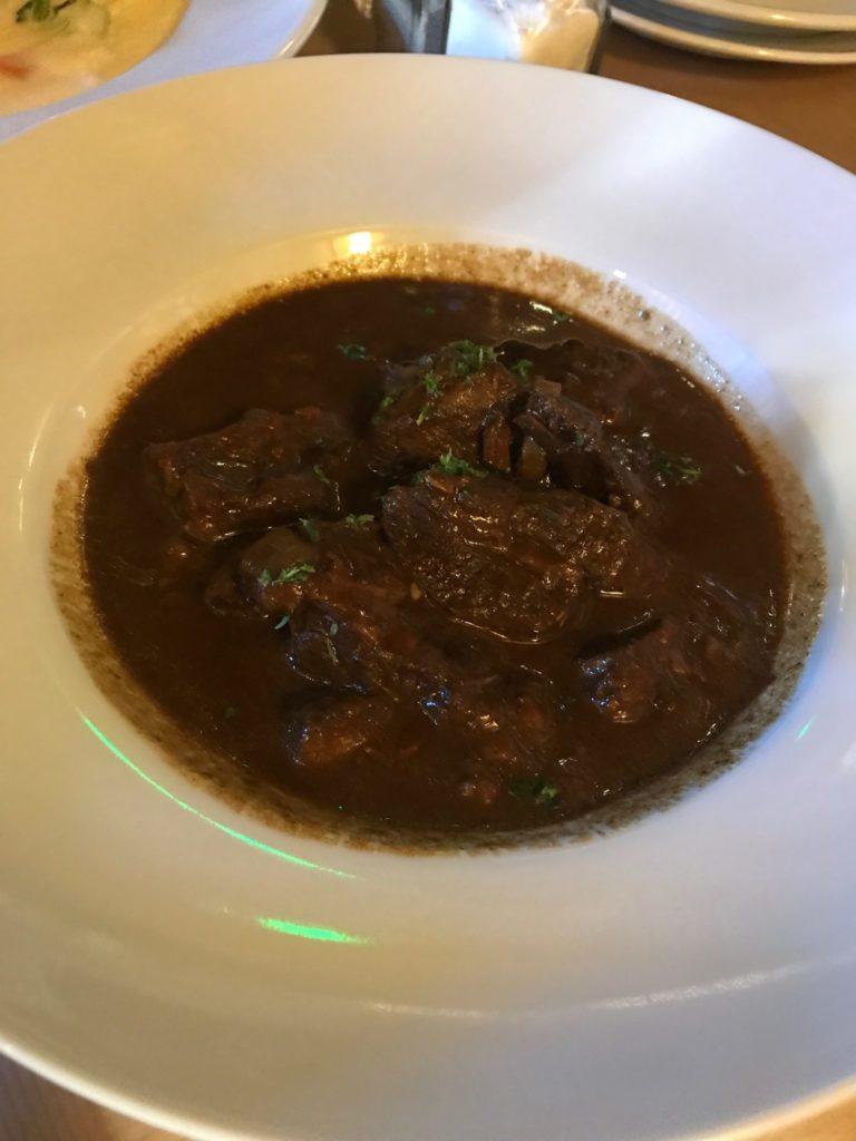 bowl of beet stew in brussels