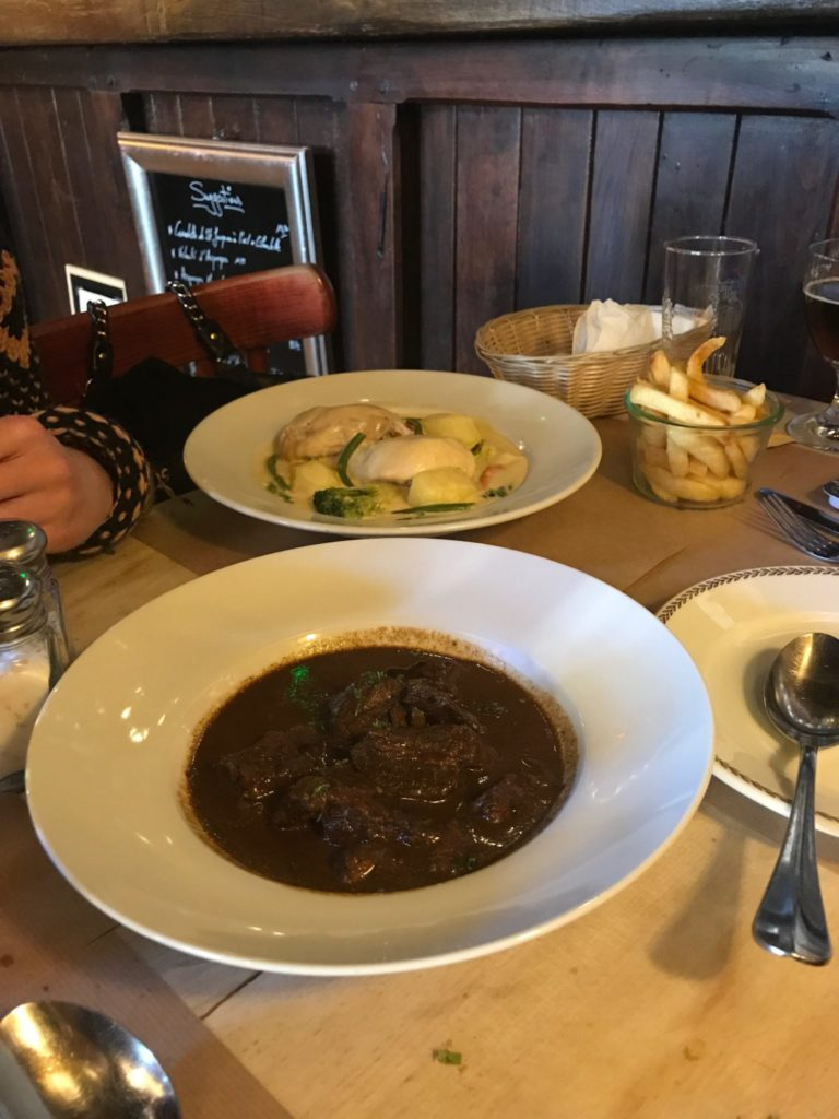 Belgium beef stew and creamy chicken