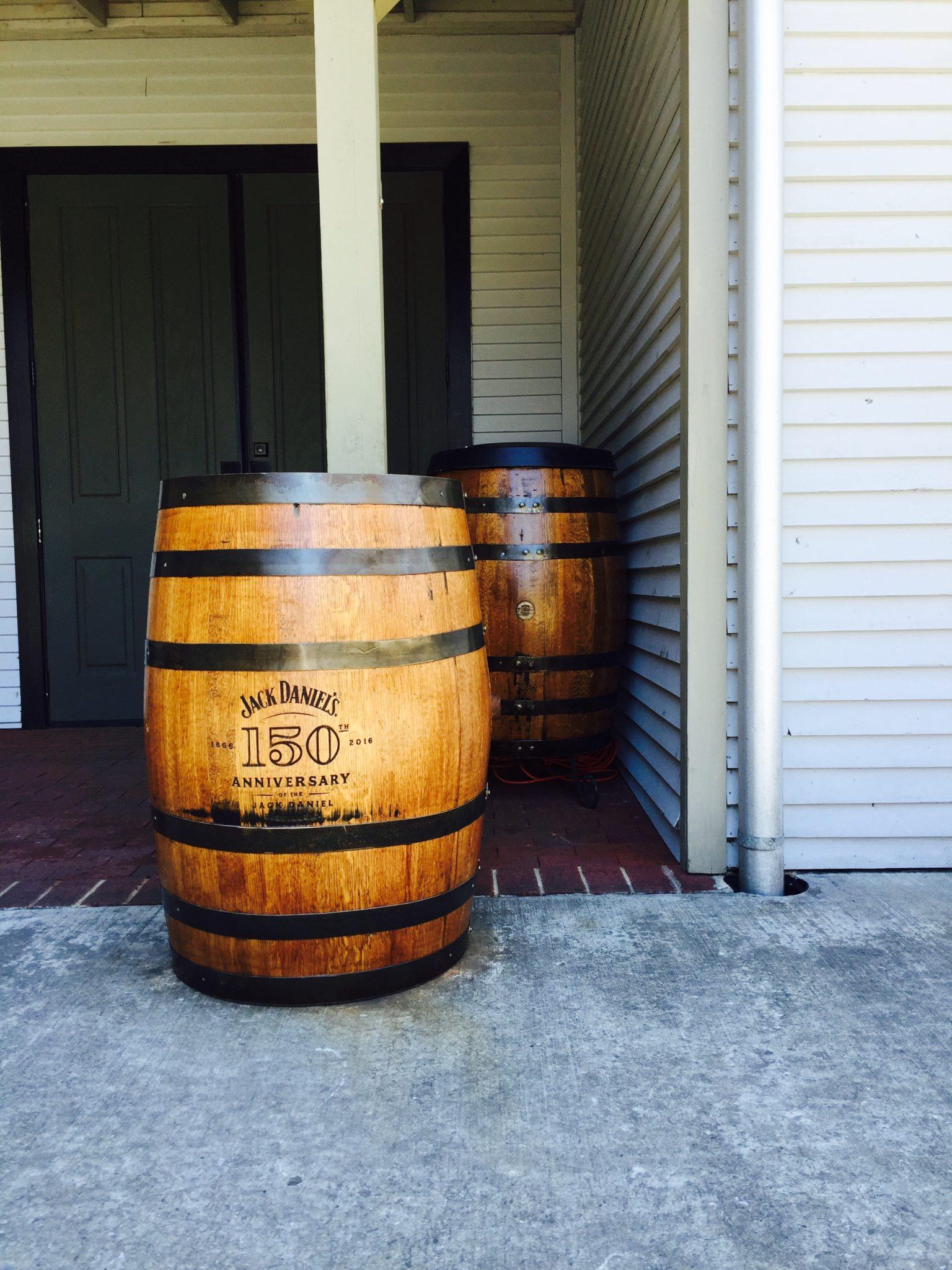 two barrels of jack daniels