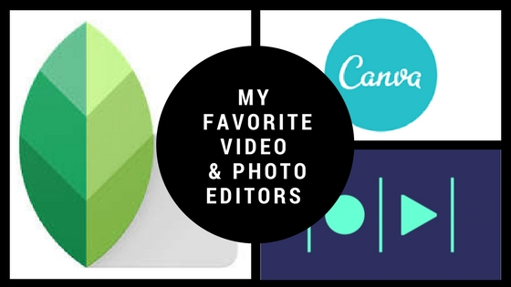 My favorite video and photo editors