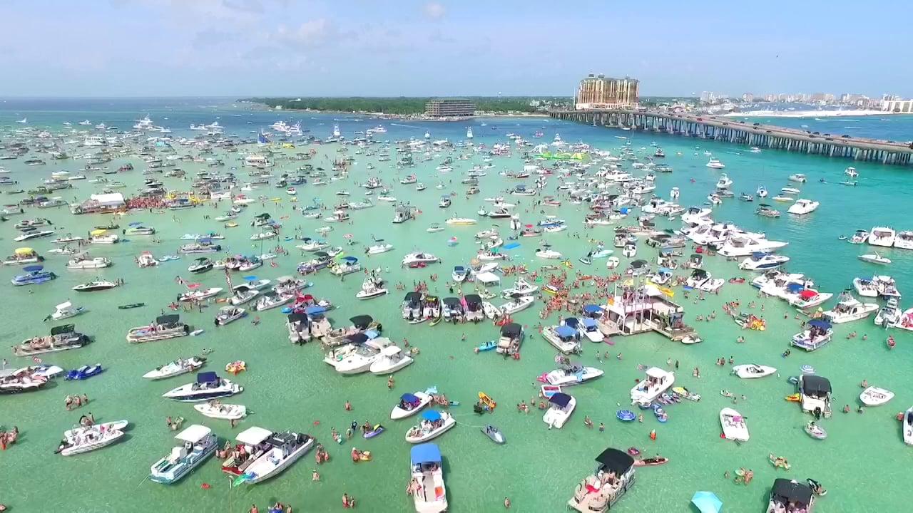 Boats Moored at Crab Island Florida