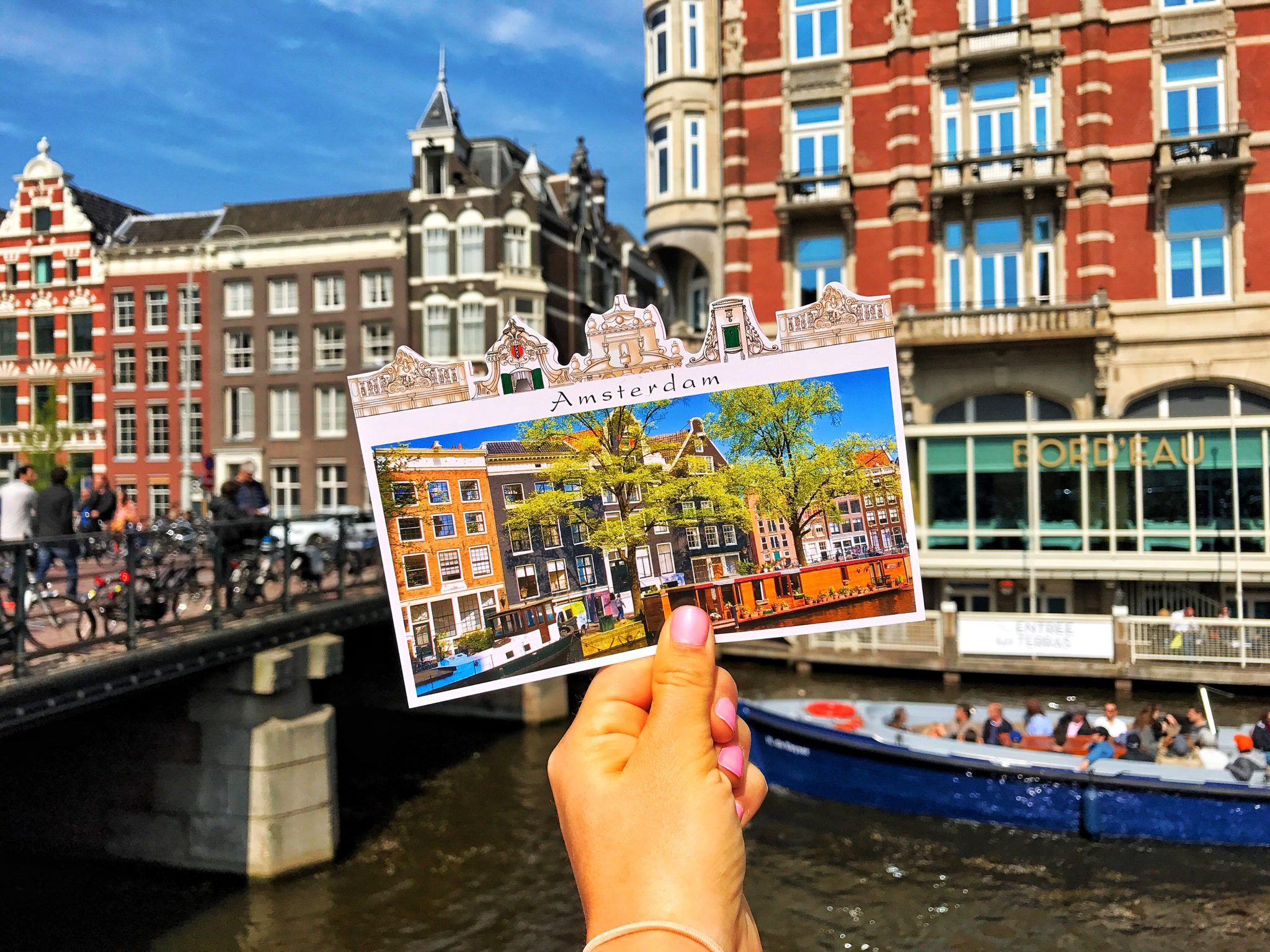 Postcard of Amsterdam Canal