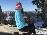 Woman at Grand Canyon winter