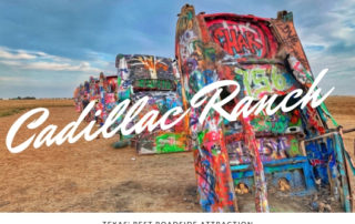 postcard of Cadillac Ranch