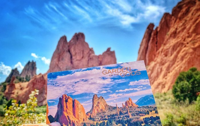 postcard at Garden of the Gods