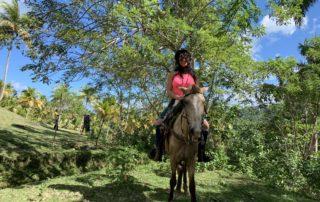 Cynthia horseback riding El Limon Dominican Republic