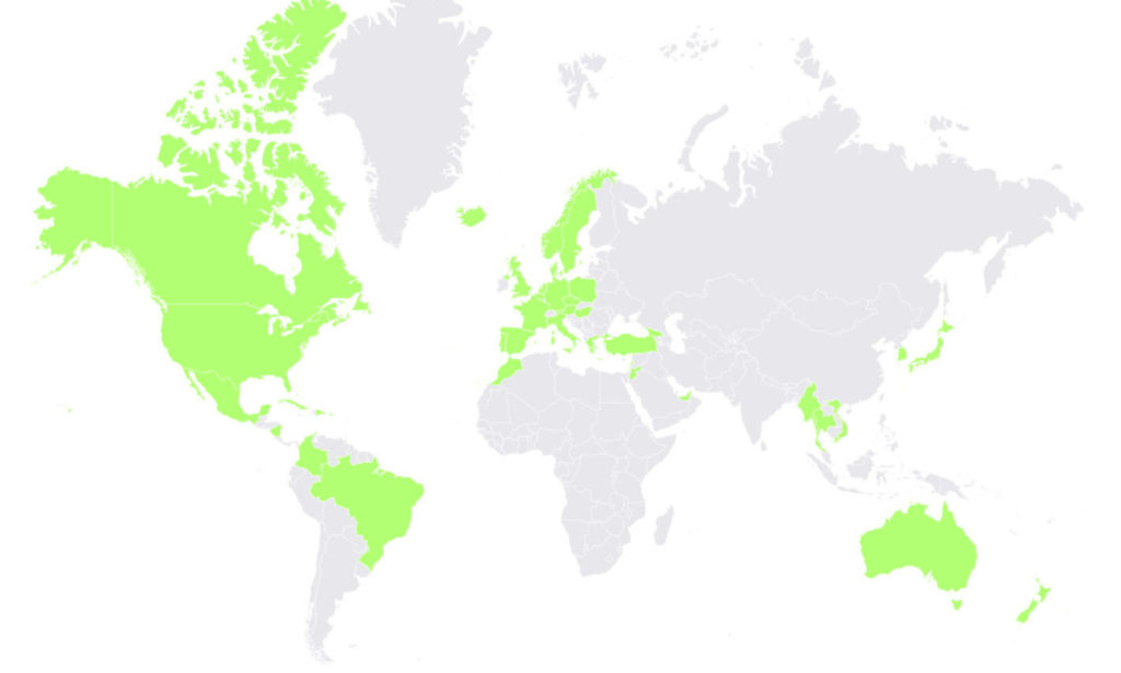 countries states visited